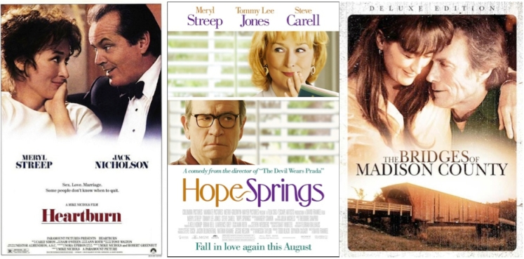 The three faces Meryl Streep makes on movie posters | She Wants a Blog